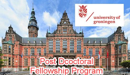 Post Doctoral Fellowship in Chemistry @ University of Groningen