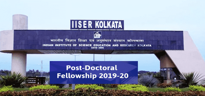 IISER Kolkata Phd Chemistry Post Doc, Salary up to 55,000/- per month